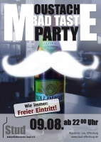 Plakat für Moustache Bad Taste Party