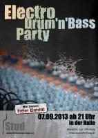 Plakat für Electro Drum'n'Bass Party