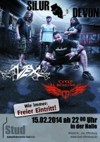 Plakat für Cycle Beating & Silur Devon & VEX