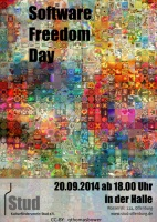 Plakat für Software Freedom Day