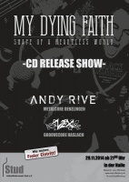 Plakat für My Dying Faith, Andy Rive & VEX