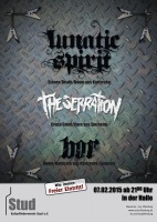 Plakat für Bor, The Serration & Lunatic Spirit