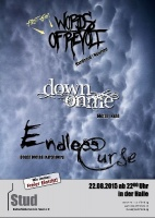 Plakat für Endless Curse, Words of Revolt & Down on me