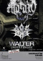 Plakat für Ataraxy, Among the Swarm & Walter under the Bridge