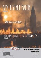 Plakat für My Dying Faith & Burning Nations