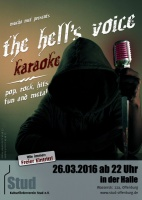 Plakat für the hell's voice - Metalkaraoke
