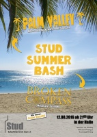 Plakat für Summer Bash mit Palm Valley & Broken Compass