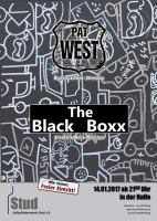 Plakat für Pat West & The Black Boxx