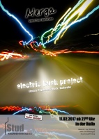 Plakat für Electric Bush Project & Merga