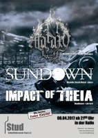 Plakat für Ataraxy, Sundown, Impact of Theia