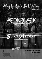 Plakat für Aeonblack & Saint Astray - Along the Rhine's Dark Waters Tour 2017