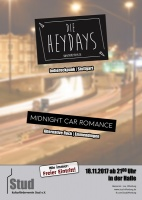 Plakat für Die Heydays & Midnight Car Romance