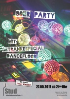 Plakat für 90er Party