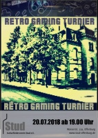 Plakat für Retro Gaming Turnier