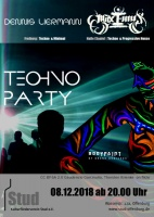 Plakat für Techno Party