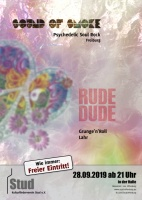 Plakat für Rude Dude & Sound of Smoke