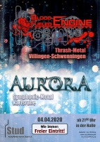 Plakat für Aurora & Blood Fueled Engine