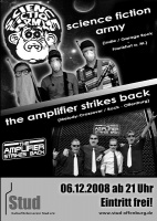 Plakat für Science Fiction Army & The Amplifier Strikes Back